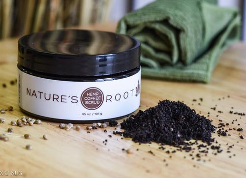 Natures Root Hemp Coffee Scrub 4.5 oz