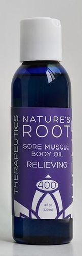 Sore Muscle body Oil 4 oz Relieving 400